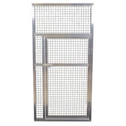 Panneau de volière aluminium avec porte