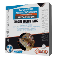 Raticide souricide pâte fraiche 150g