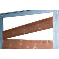 Panneau chenil coupe vent (cadre vide) 1,5m