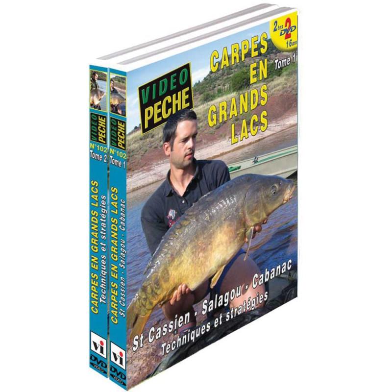 Lot de 2 DVD : Carpes en grands lacs